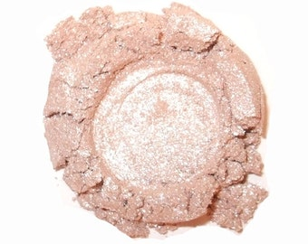 Mineral Eye Shadow LOVE - 3 Grams or 5 Grams- Very Sheer Pink Metallic Sparkle Highlighter