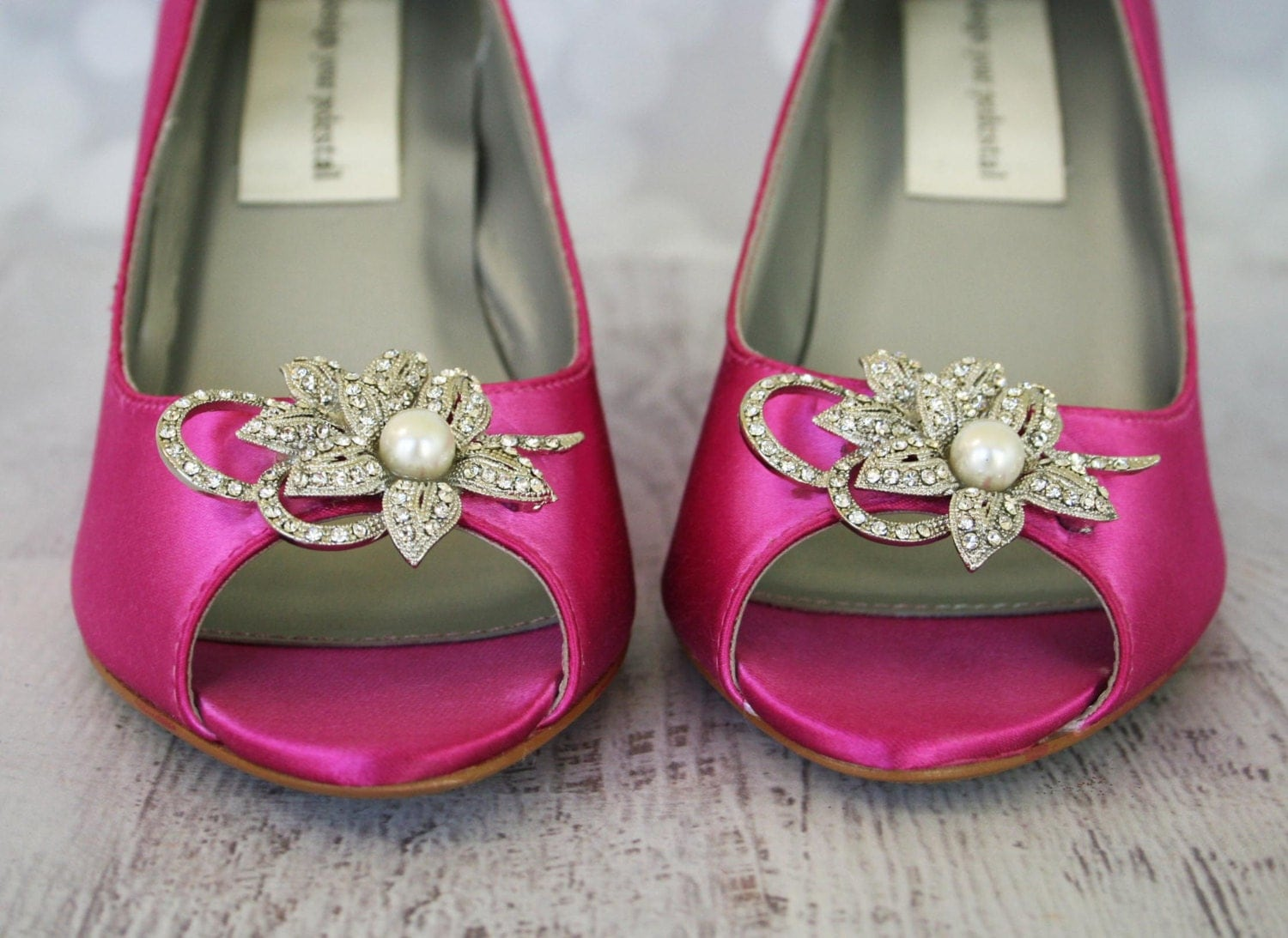 Wedding Shoes Fuschia Peep Toe Wedge Wedding Shoes With
