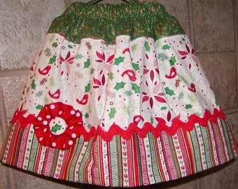 Girls Twirl Skirt Custom..Happy Christmas..Available in 0-12 months, 1/2, 3/4, 5/6, 7/8, 9/10 Bigger Sizes Available