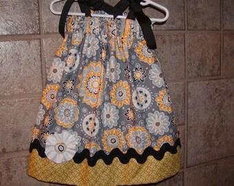 Girls Pillowcase Dress Infant toddler Custom..Flower Spot..sizes 0-6, 6-12, 12-18, 18-24 months, 2T, 3T..Bigger sizes