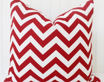 Red Pillows,Red White Chevron Pillow, Red Chevron Pillow,Red Pillow Cover, Cushions,Red Cushion Cover, Red Pillow Cover, Decorative Pillow