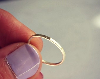 Silver ring, stacking rings, sterling silver stackable ring, sterling midi ring - stack ring