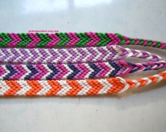 Custom Chevron Friendship Bracelet