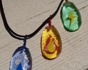 3 Pack- Pokemon Evolution Stone Necklaces