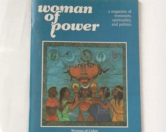 1986 Vintage Woman of Power ISSUE Four WOMEN of Color / Softcover Magazine Book