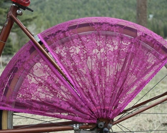 Bicycle Skirt Guard, 'Fuchsia'. Street cycling, cycling accessories, bicycle accessories, cruiser accessories,