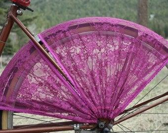 SALE. Bike Skirt Guard, 'Fuchsia'. Bike accessories, cycling accessories, bicycle accessories, cruiser accessories,