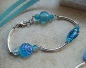 Handmade Original designed, beaded bracelet jewelry, gifts for her, blue bracelet, handmade jewelry, jewellery