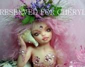 OOAK art doll fantasy mermaid girl polymer clay sculpture fairy    IADR       free shipping