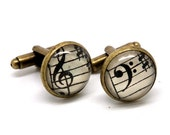 Antique Bronze Vintage Sheet Music Cufflinks