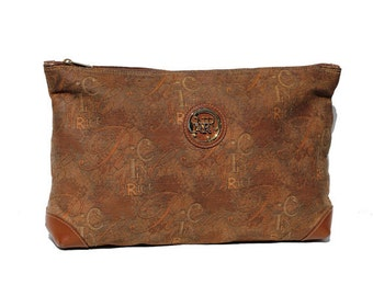 Italian Nina Ricci Brown Clutch Bag