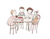Cafe au Lait 8.5x11