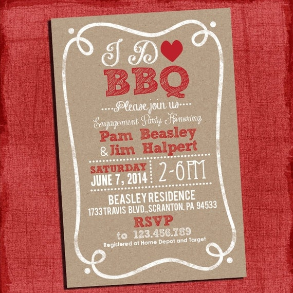 Bbq Wedding Invitations was very inspiring ideas you may choose for invitation ideas