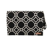 SALE P&N Magazine Diaper Changing Clutch in Black Lattice OH BABY!