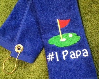 Royal blue golf towel