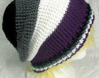 Asexual Pride Slouchy Hat