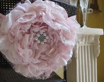 wedding chair cover flower sash