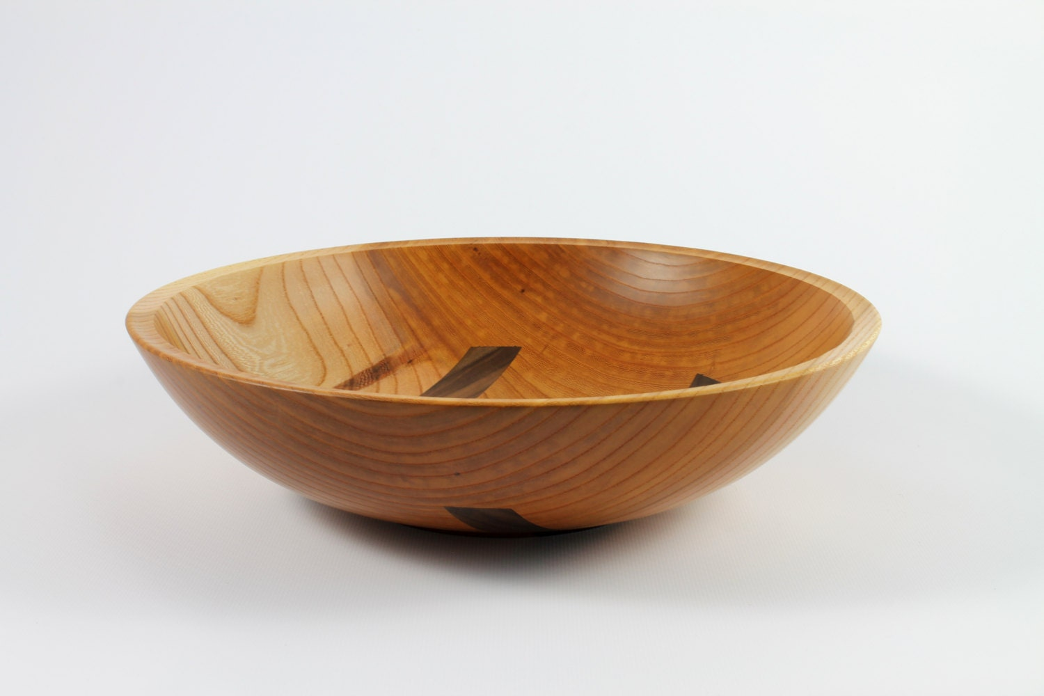 handmade wood bowls handmade wood fruit bowl zelkova with walnut inlays 2333