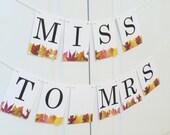 Bridal Shower Banner, Wedding Banner, Bride Groom  Banner,  Autumn Banner, Wedding Decoration, Shower Banner Fall Banner Bachelotte Banner