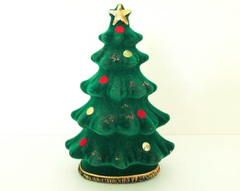 1950's Christmas Decoration - Christmas Tree Bank - for Display or Money or Notes to Santa - Mid Century Kitsch Holiday Decor