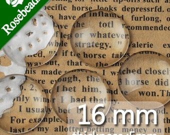 200PCS 16MM Round Flat Back clear Crystal glass Cabochon,Top quality -C1056