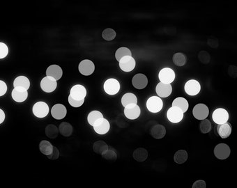 abstract photography black and white 8x10 8x12 fine art photography bokeh abstract light photography modern decor circles abstract wall art