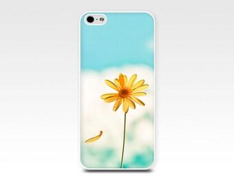 floral iphone case iphone 5s case 6 iphone 4s case yellow daisy iphone case nature iphone 5 case 4 blue sky iphone case fine art photography