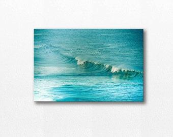 ocean photography canvas nautical decor beach canvas art 12x18 24x36 fine art photography beach teal blue canvas gallery wrap canvas print