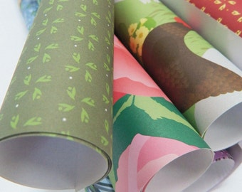 Gift Wrapping Paper - Any 5 sheets of gift wrap, mixed designs