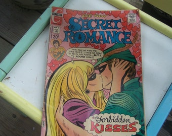 Vintage Charlton Romance comic book (1972) Secret Romance