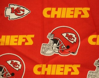 NFL Kansas City Chiefs 100% Cotton Fabric by the yard