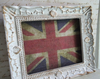 "Framed picture ""Union Flag"". Handmade. Home decor for dollhouses at 1/12th scale"