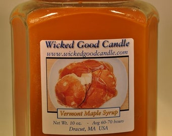 Glass Jar Candle Soy Paraffin Blend - Vermont Maple Syrup
