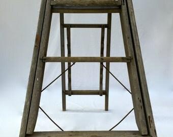 Vintage Wooden Step Ladder Antique Step Ladder Wood