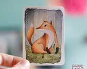Aceo original illustration Fox