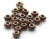 Copper Large Hole Beads  - 20 per order