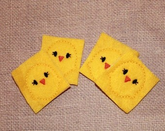Easter Chick feltie, Yellow Easter Chick feltie, Easter feltie, Chick feltie,  Yellow Chick feltie, Easter Felt Stitchie, Felties, Easter