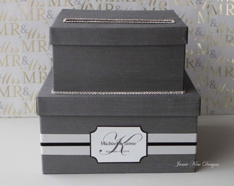 Wedding Card Box Gift Card Box  Money Holder - Custom Made to Order