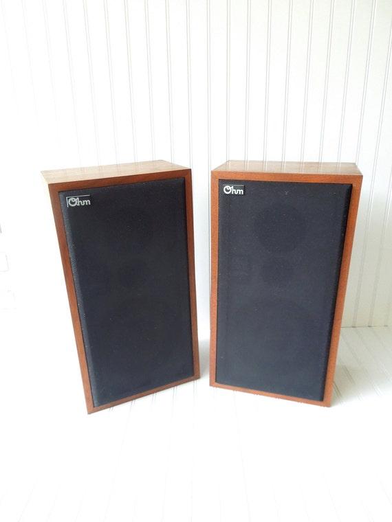 Vintage Speakers Ohm Model E2 Mid Century Danish Modern