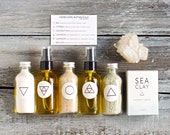 Ultimate Bath Gift Set. 100 Percent Natural Ingredients. Sampler Spa Gift Set. Vegan. Handcrafted. Gift Box.