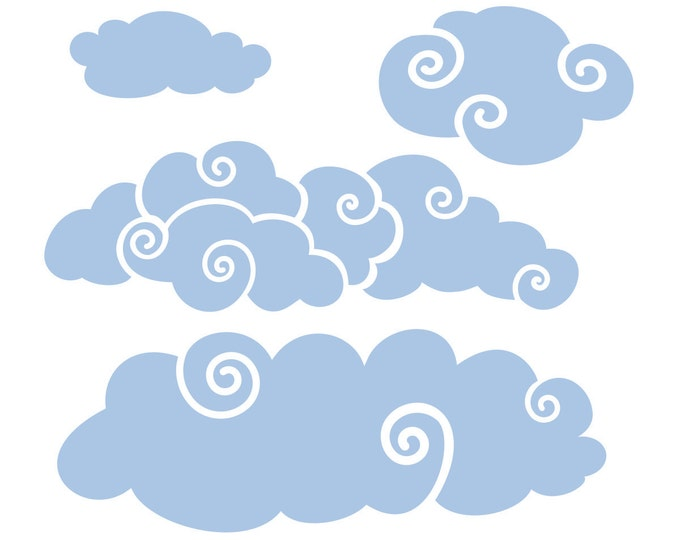 More Whimsy Clouds for the Wall | Wall Decal Package for Nursery | Boys Room
