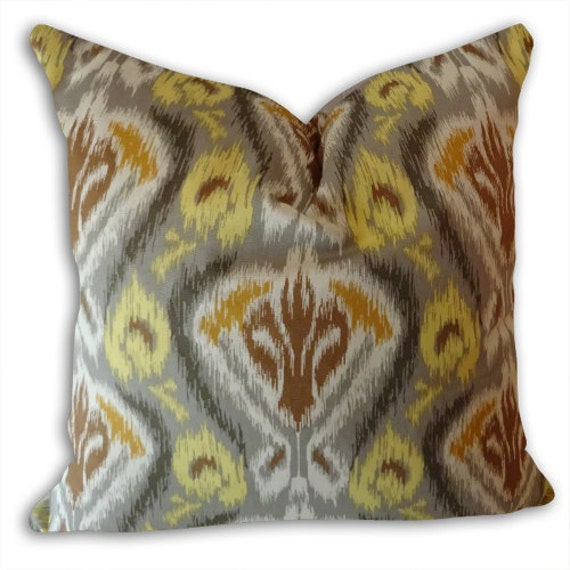 Gold Brown Throw Pillows : Gold Brown Pillow Cover Abstract Decorative Pillow Cover