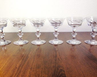 Crystal GOBLETS Crystal Hand Cut Glasses Stemware Champagne Glasses