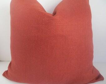 Rust Linen Pillow Covers- Rust Pillow Cover- Pillow Covers- Accent Pillows- Linen Pillows- Rust Throw Pillows