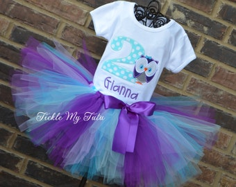 Owl Birthday Outfit-Owl Tutu Outfit-Whoo's One Owl Tutu Oufit-Owl Themed Birthday Outfit-First Birthday Owl Tutu Set-Owl Birthday Party Set