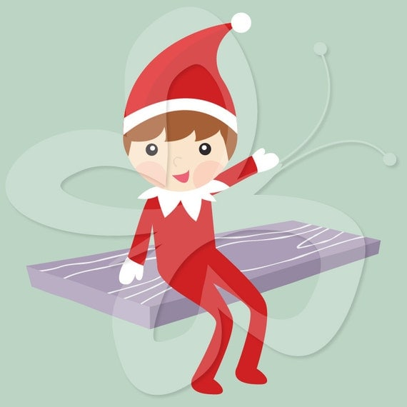 The Elf on the Shelf Clip Art Clipart - Commercial and Personal use
