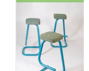 Set of 3 Tubular steel Bar Stools by Hugh Hamilton and Philip Salmon for Kinetics, c1969