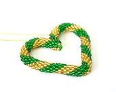 Gold and Green Heart