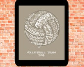 Electronic Copy Volleyball... Typography Art, 8x10