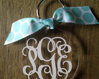 Personalized Monogrammed Keychain